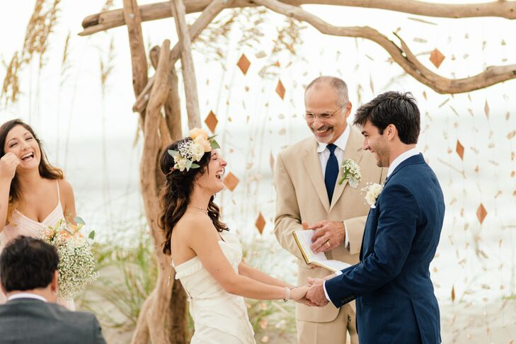 Noelle and Patrick ensured every element of the day reflected their personalities, sense of style and relationship by customizing each detail as much as possible. For the ceremony, they asked Noelle's father to officiate, which made the proceedings that much more personal and sentimental.