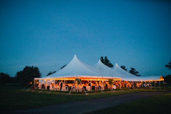 Rumson Country Club Tented Reception Lighting