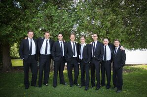 Black Calvin Klein Groomsmen Suits