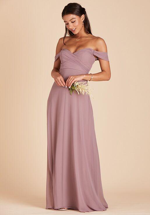 Birdy Grey Spence Convertible Dress in Dark Mauve V-Neck Bridesmaid Dress