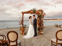Beach wedding venue in Monterey, California