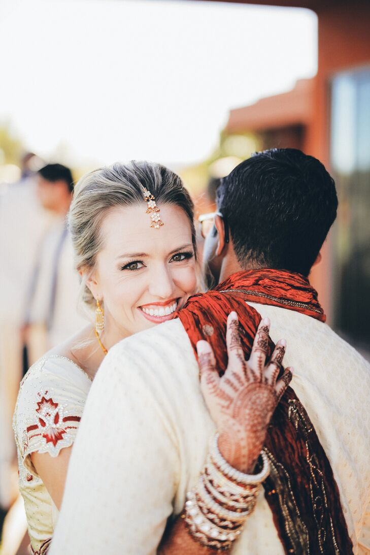 The night before the wedding, the groom's parents hosted a sangeet, a traditional Indian wedding event where friends and family where entertained with performances, enjoyed Indian food, and were adorned with henna designs.