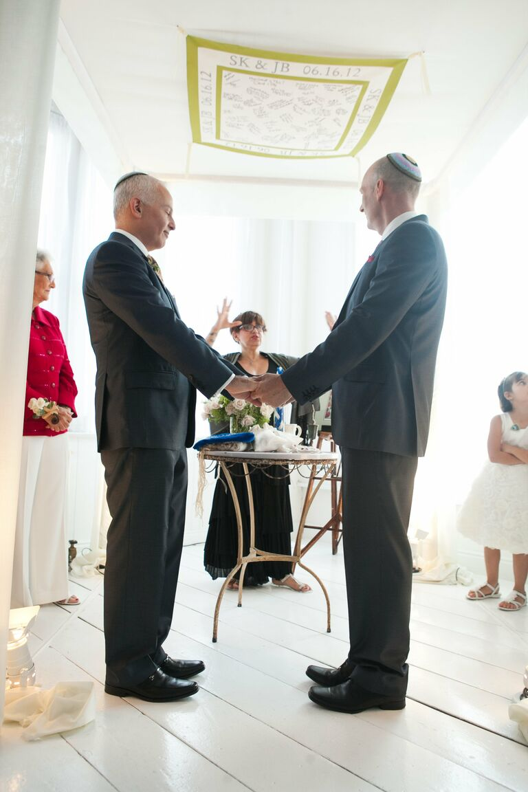 Chuppah with Guests' Well Wishes