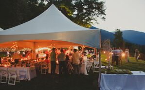 Outdoor White-Tented Reception