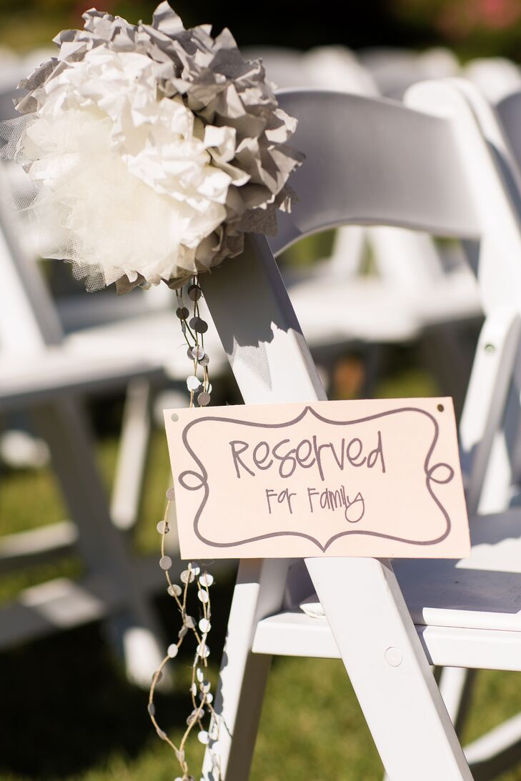'Reserved for Family' Ceremony Sign