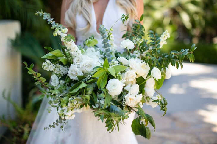 Veronica and Baby Blue Eucalyptus Bouquet with Greenery
