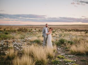 Valerie and Mitty chose a destination wedding in the hipster haven of Marfa, Texas, for their April wedding. With guests traveling there for the weeke