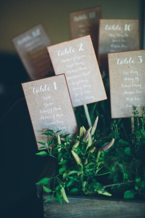 Potted Kraft Paper Seating Assignments