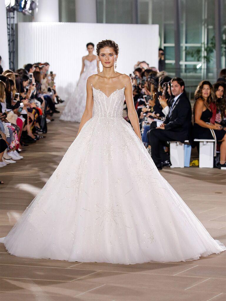 Ines Di Santo wedding dress strapless ball gown
