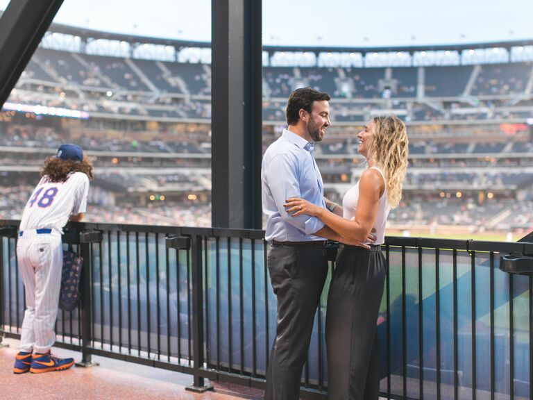 A Baseball Stadium Engagement Session