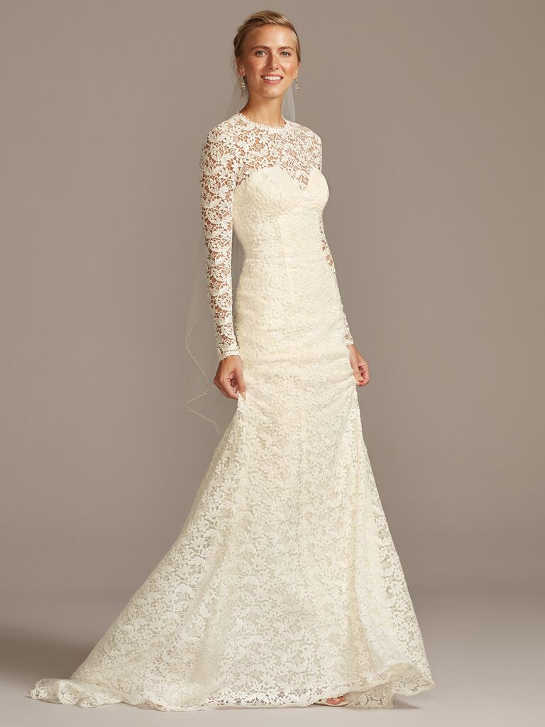 Melissa Sweet long sleeve lace A-line wedding dress