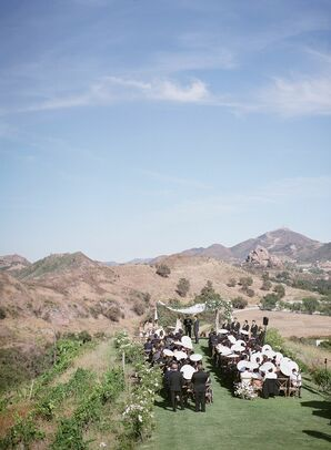 Wedding Ceremony at Saddlerock Ranch in Malibu, California