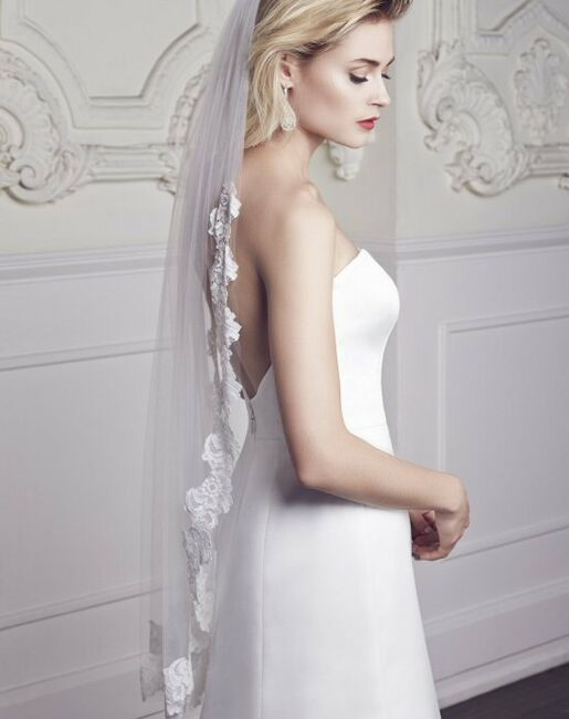 Mikaella by Paloma Blanca Veils Collection VM454F Veil
