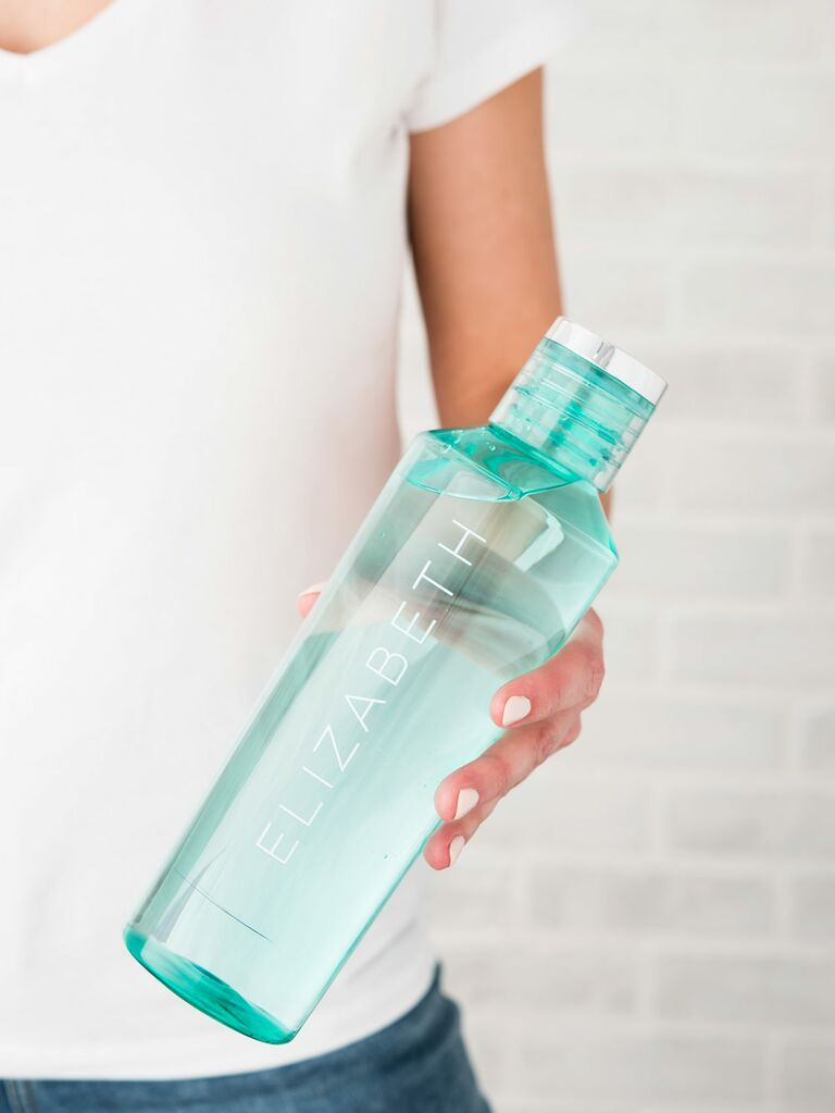 Personalized Water Bottle Engaged Friend Gift