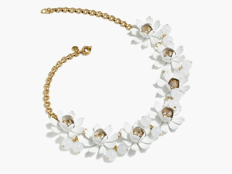 J. Crew Petal and Crystal Necklace