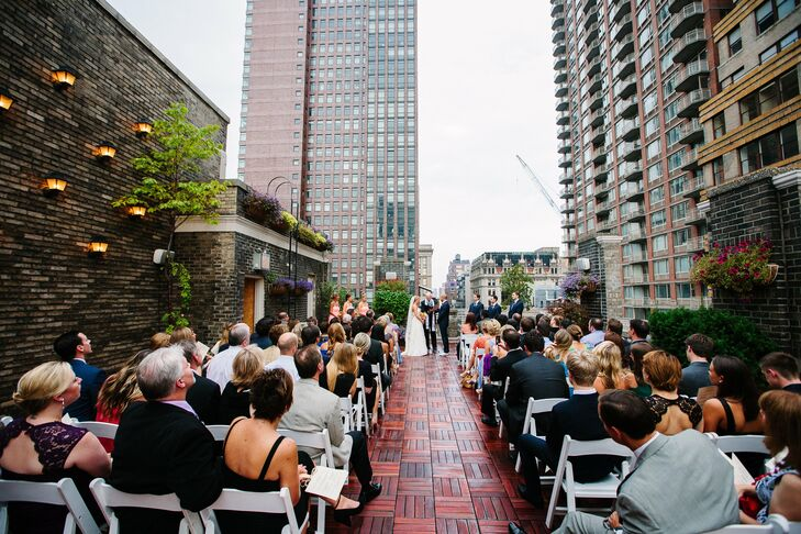 Thanks to the breathtaking views on the rooftop, the couple didn't feel the need to add much decor.