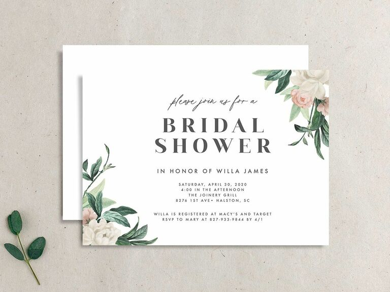 30 Affordable Bridal Shower Invitations For Any Theme