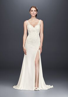 David's Bridal David's Bridal Style WG3874 Sheath Wedding Dress
