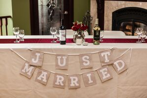 """Neutral """"Just Married"""" Sign"""