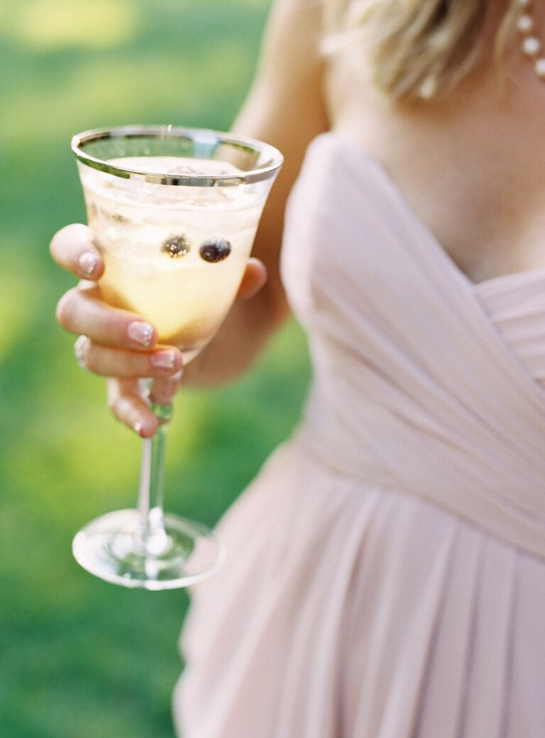 Bee's Knees signature gin wedding cocktail