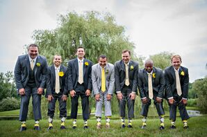 Gray and Yellow Suits