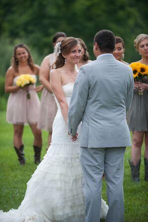Ceremony at the Barns at Wesleyan Hills