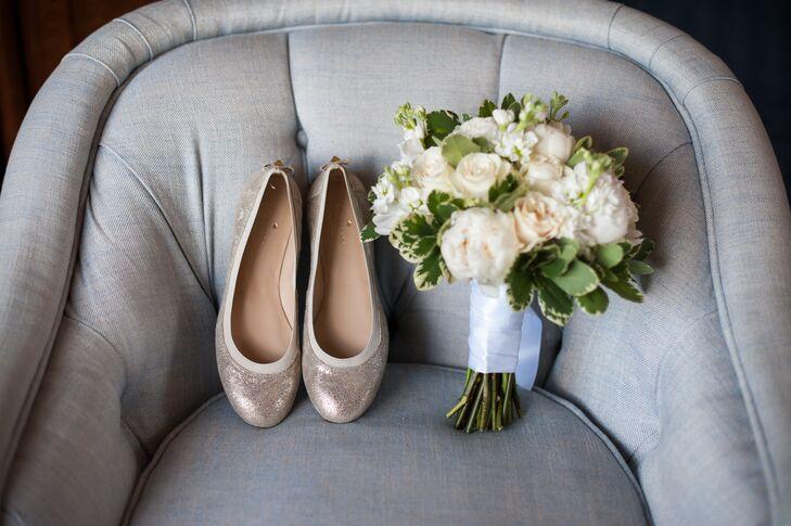 Sparkly Kate Spade Bridal Flats