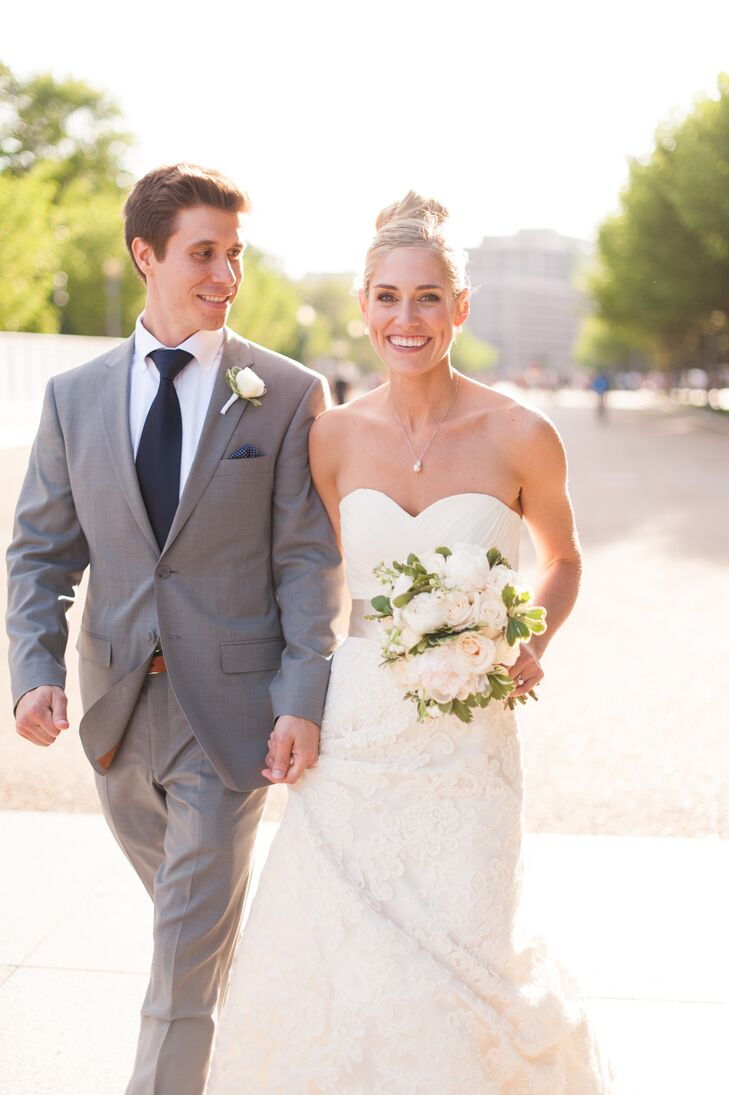 Steve Coppinger, 32, an executive buyer, married Maggie Gillespie, 31, an anesthesiologist, in a beautiful and elegant wedding in Washington, D.C. Aft