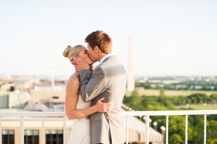 Bride and Groom with Washington, D.C. Backdrop