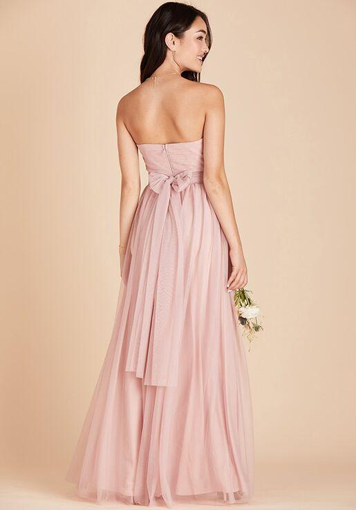 Birdy Grey Christina Convertible Dress in Rose Quartz Strapless Bridesmaid Dress