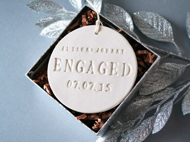 engagement Christmas ornament gift for fiance