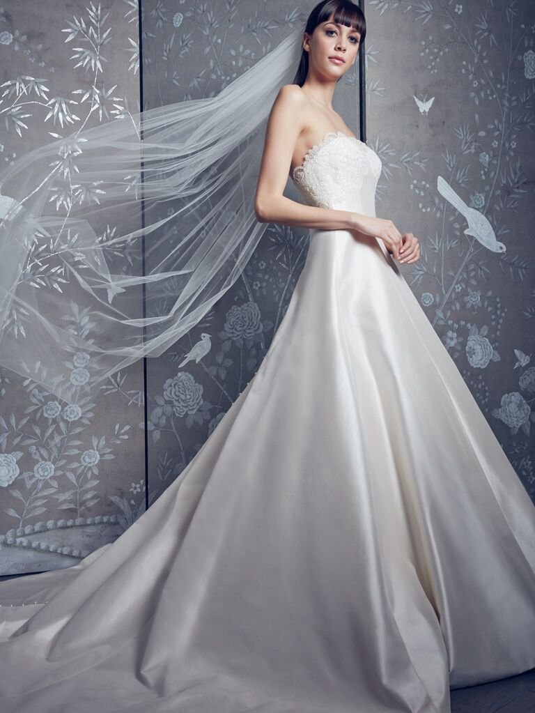 Legends by Romona Keveza Spring 2020 Bridal Collection strapless wedding dress with lace bodice