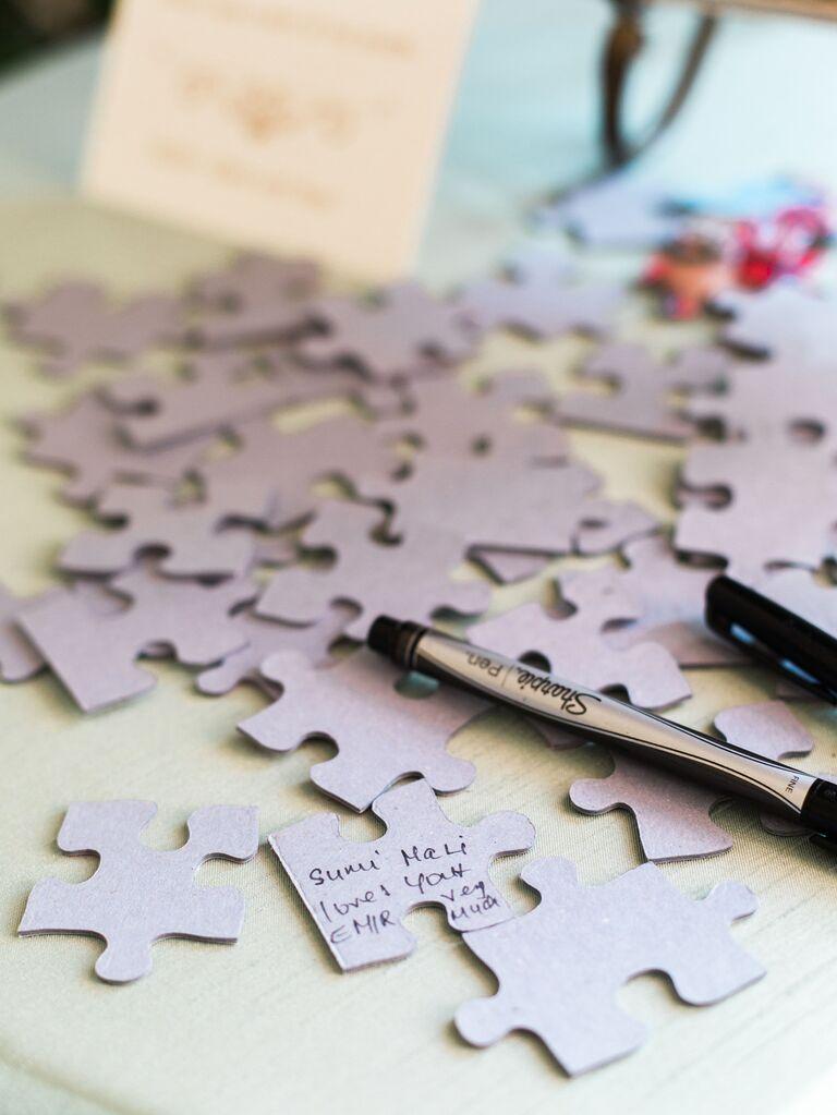 Puzzle guest book alternative