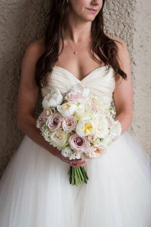Ivory, Blush, Lavender Bridal Bouquet