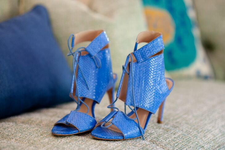 Boho Blue Heels