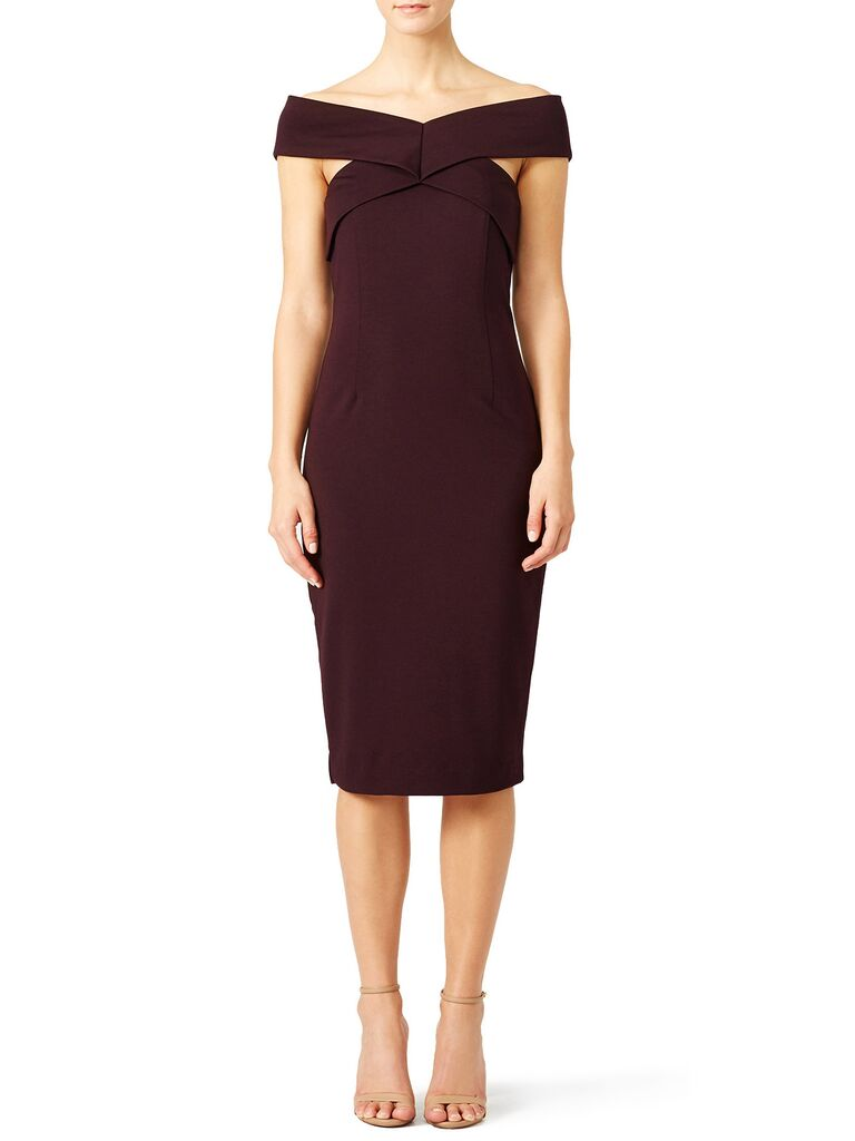 The Runway Marsala Fall Wedding Guest Dress