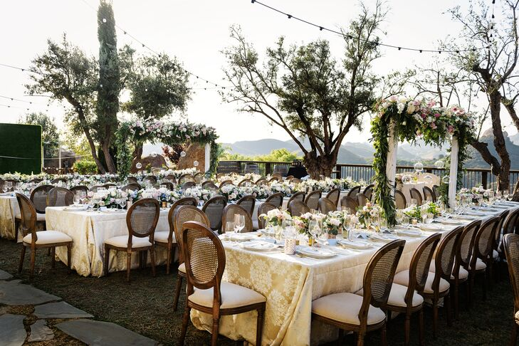 French Garden-Themed Outdoor Reception