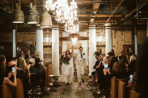Industrial Bridal Recessional at Salvage One in Chicago