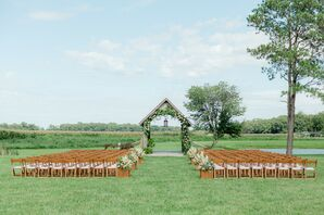 Covered Bride Ceremony Setup at The Covered Bridge Inn in Lewes, Delaware
