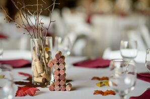 Cork-Stopper Table Numbers and Centerpieces