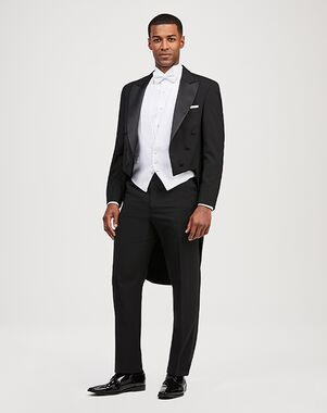 Jos. A. Bank Peak Lapel Dress Tails Tuxedo Black Tuxedo