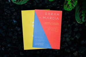Modern Color Block Invitations