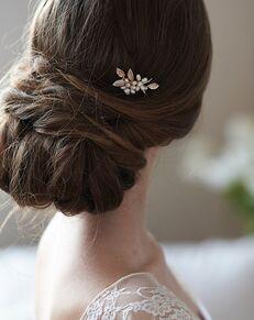 Dareth Colburn Briella Pearl Hair Pin (TP-2838) Gold, Silver Pins, Combs + Clip