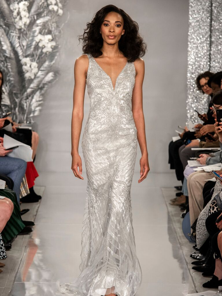 Theia Spring 2020 Bridal Collection silver wedding dress