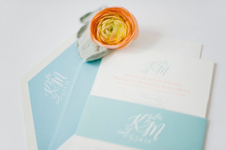 Traditional Monogrammed Wedding Invitations