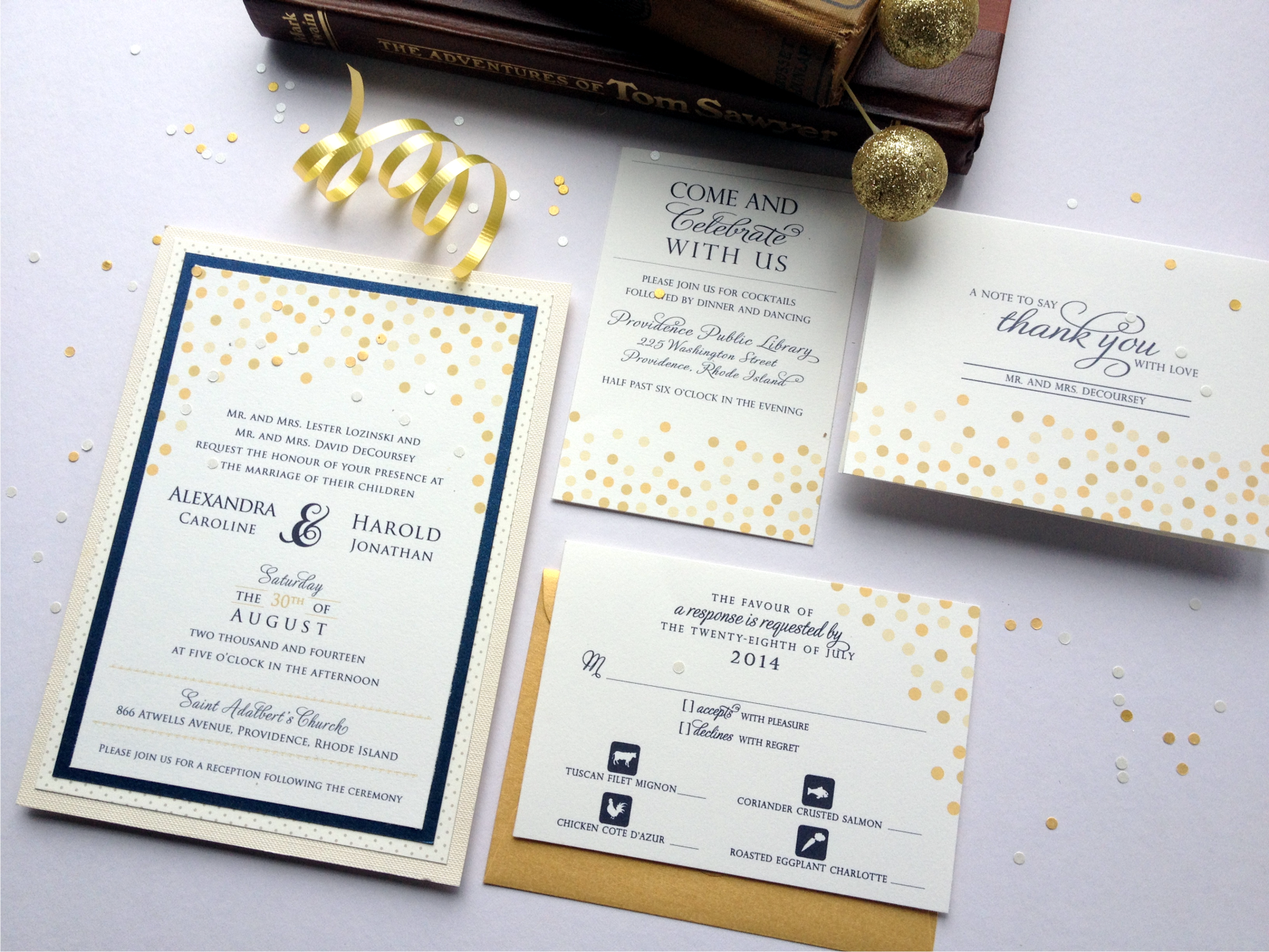 Invitations + Paper in Providence, RI - The Knot