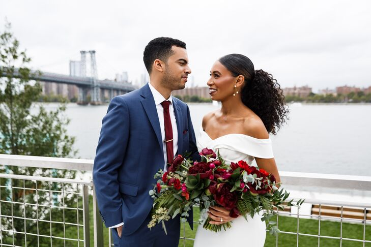 "Ashley	Asres and Julian Yalaju hosted an urban wedding at MyMoon, a modern restaurant in the heart of Williamsburg, Brooklyn. ""We live in Brooklyn and"