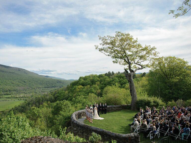 Lincoln Family home outdoor wedding