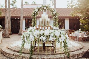 Glamorous Sweetheart Table in an Hacienda Courtyard