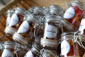 DIY Mini Jar Favors Filled with Candy